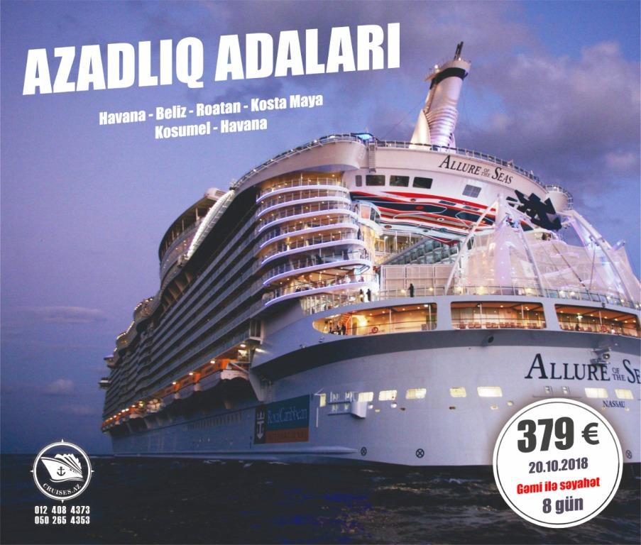 Cruises.az Gəmi Səyahəti