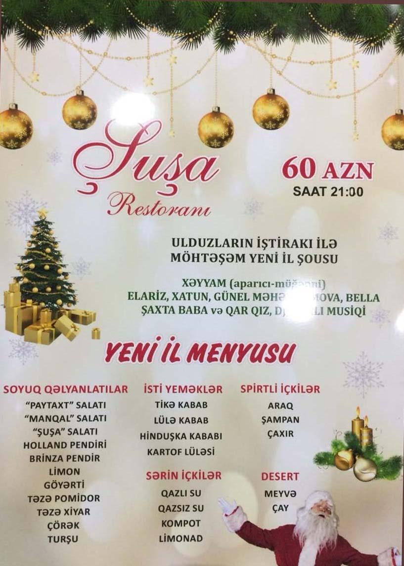 SARAY VƏ RESTORANLARDA ŞOU PROQRAM QİYMƏTLƏRİ